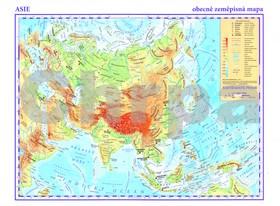 Asie Obecně zeměpisná mapa