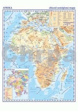 Afrika Obecně zeměpisná mapa