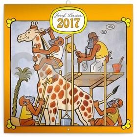 Josef Lada Zvířátka - nástěnný kalendář 2017