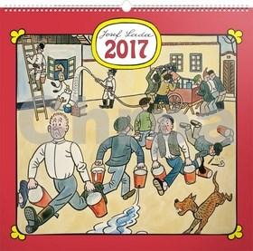 Josef Lada Na vsi - nástěnný kalendář 2017