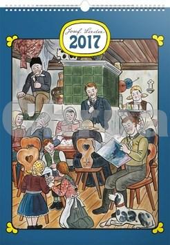 Josef Lada Doma - nástěnný kalendář 2017
