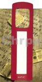 Antická záložka Mince tmavě červená - AZ 002