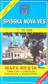 Spišská Nová Ves 1 : 10 000 Mapa mesta Town plan Stadtplan Plan miasta Várostérk