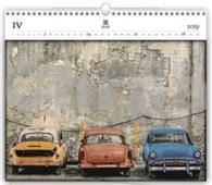 Cars - dřevěný nástěnný kalendář 2019