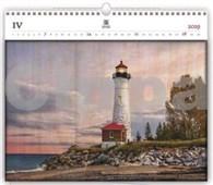 Lighthouse - dřevěný nástěnný kalendář 2019
