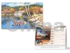 Příroda na plátně - stolní kalendář 2019