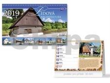 Lidová architektura - stolní kalendář 2019